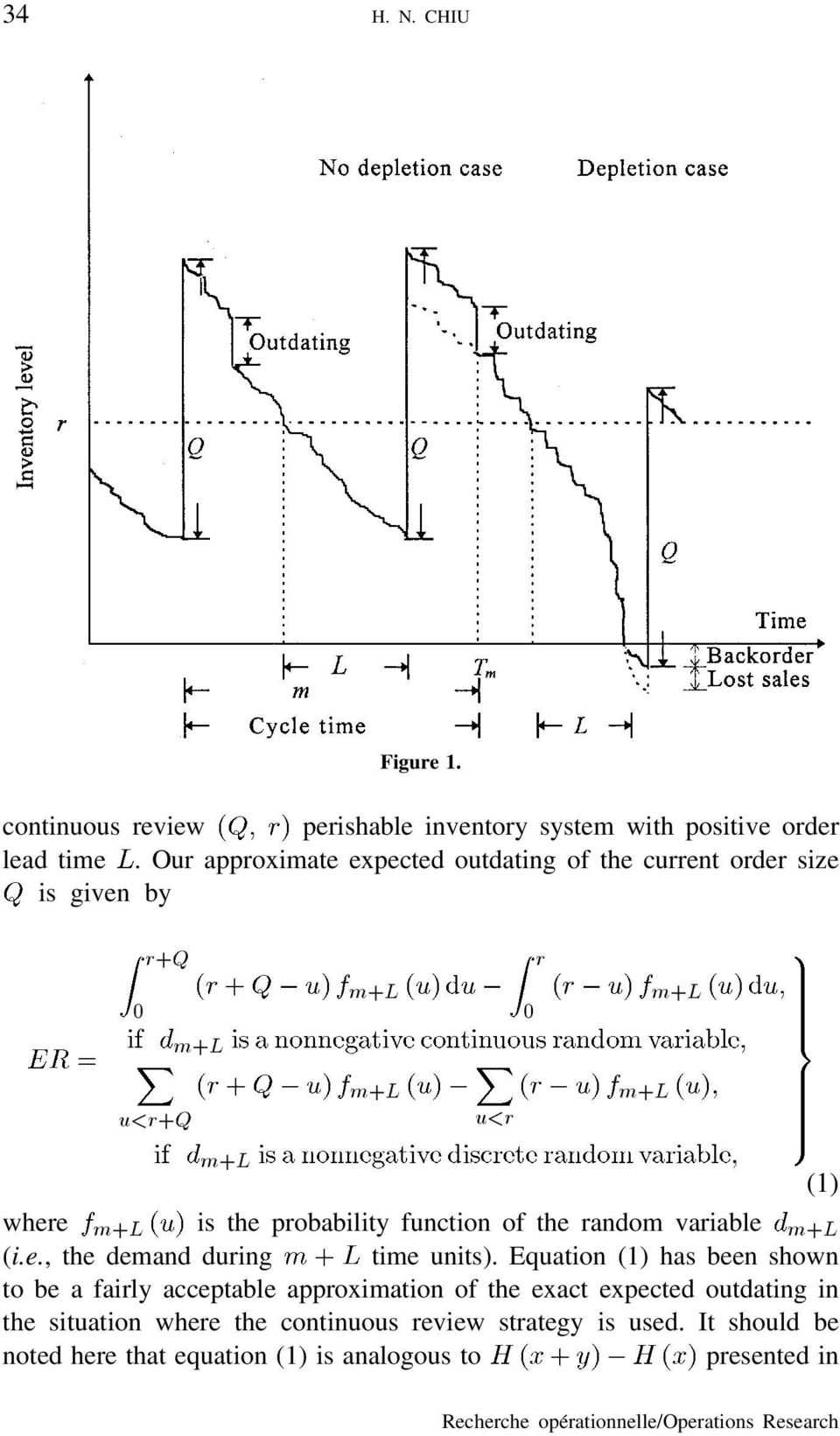 function of the andom vaiable m+l (i.e., the demand duing time units).