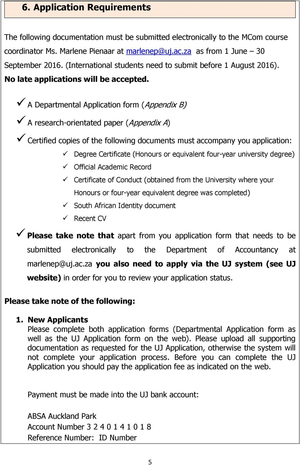 application for masters degree at uj