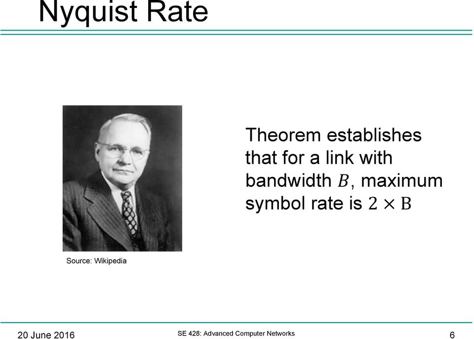 symbol rate is 2 B Source: Wikipedia 20