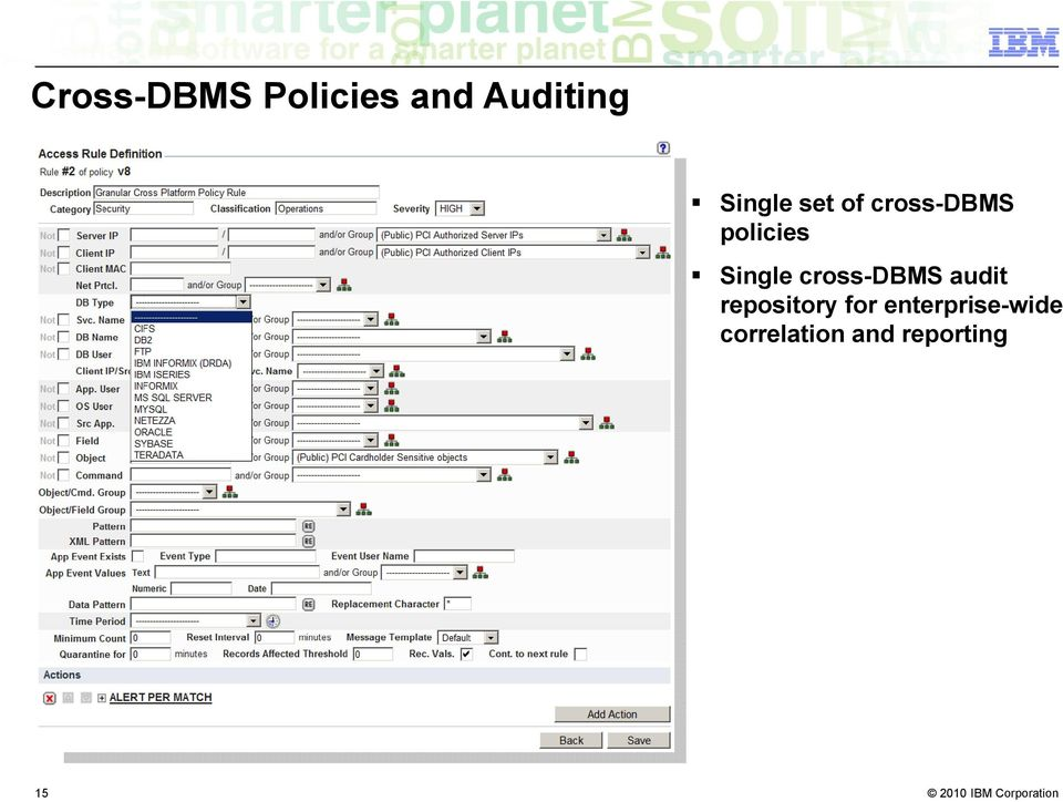 Single cross-dbms audit repository