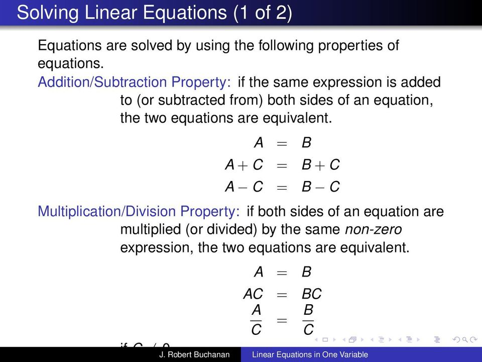 two equations are equivalent.