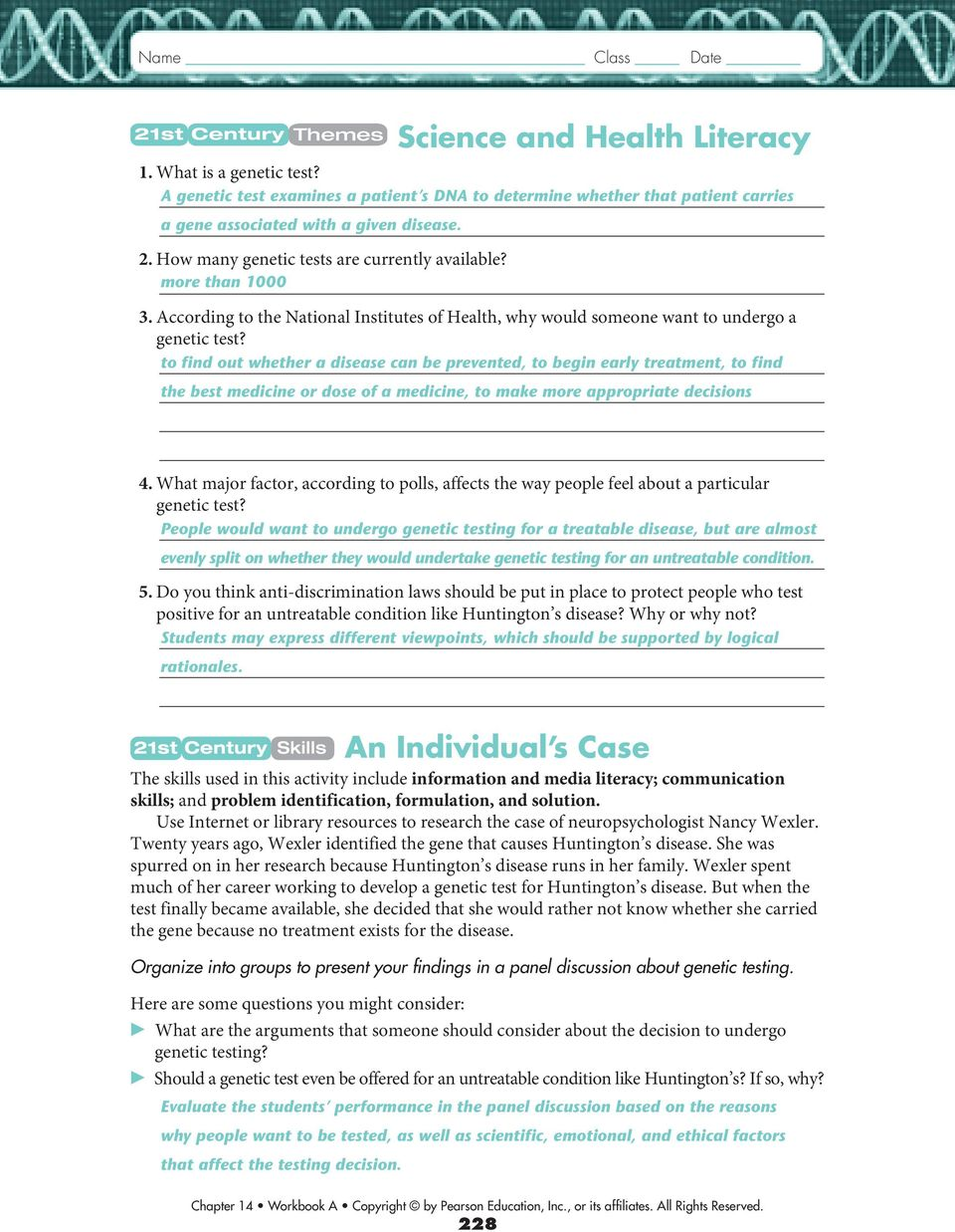 worksheet Gene Mapping Worksheet 14 3 studying the human genome pdf to find out whether a disease can be prevented begin early treatment to