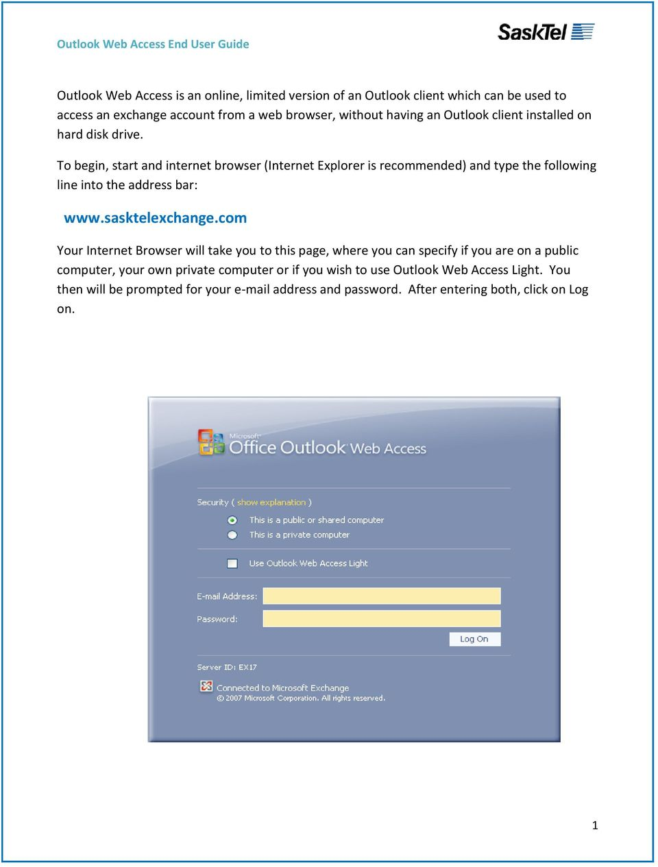 Outlook Web Access End User Guide Pdf