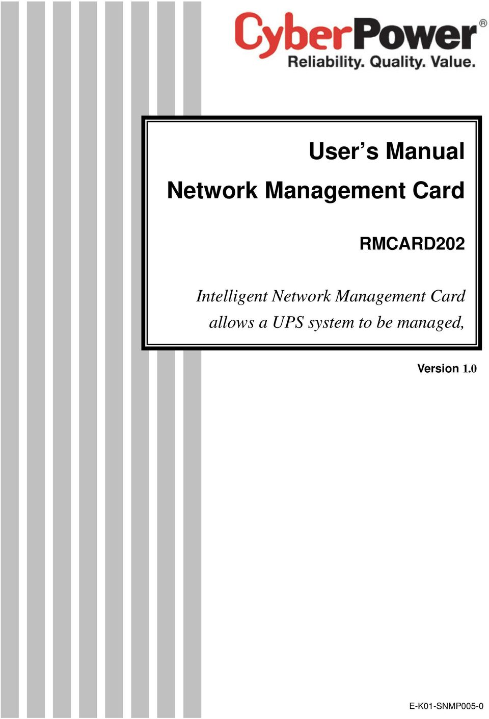 Card allows a UPS system to be managed,