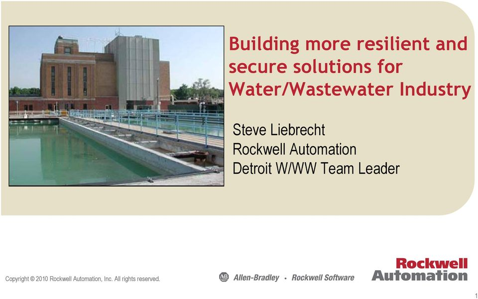 Rockwell Automation Detroit W/WW Team Leader