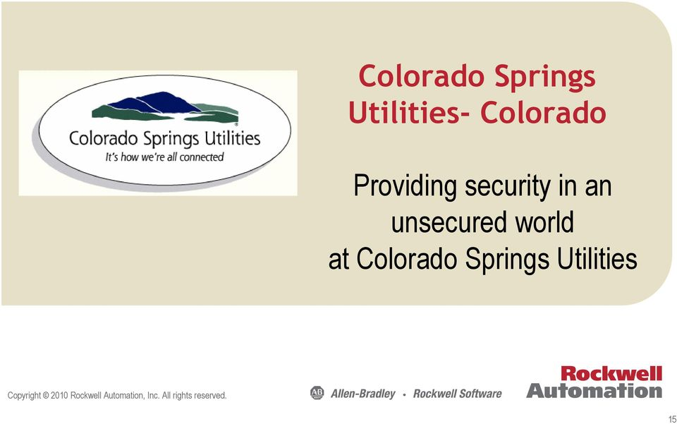 at Colorado Springs Utilities Copyright