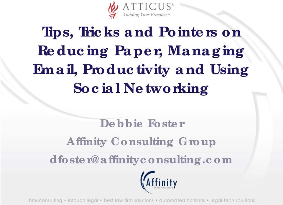 Tips, Tricks and Pointers on  , Productivity and Using - PDF