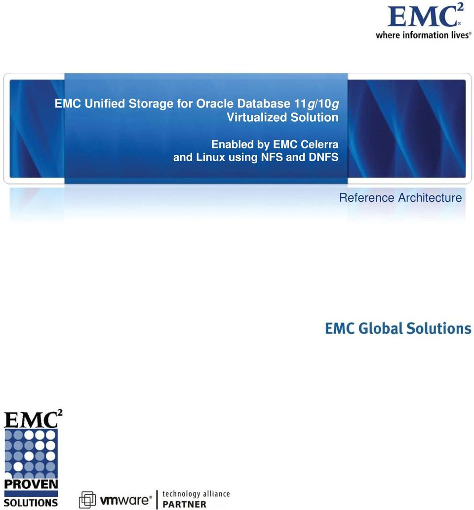 Solution Enabled by EMC Celerra and