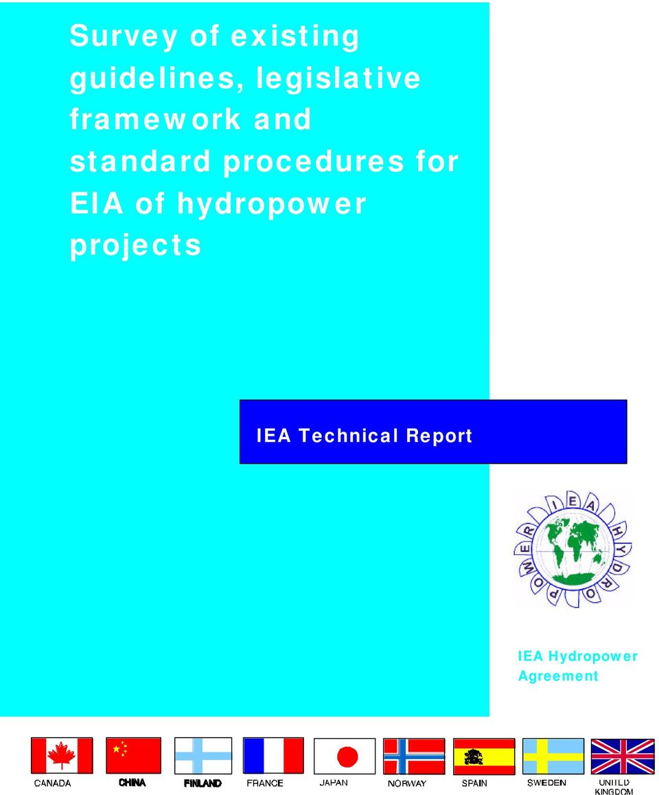 procedures for EIA of hydropower