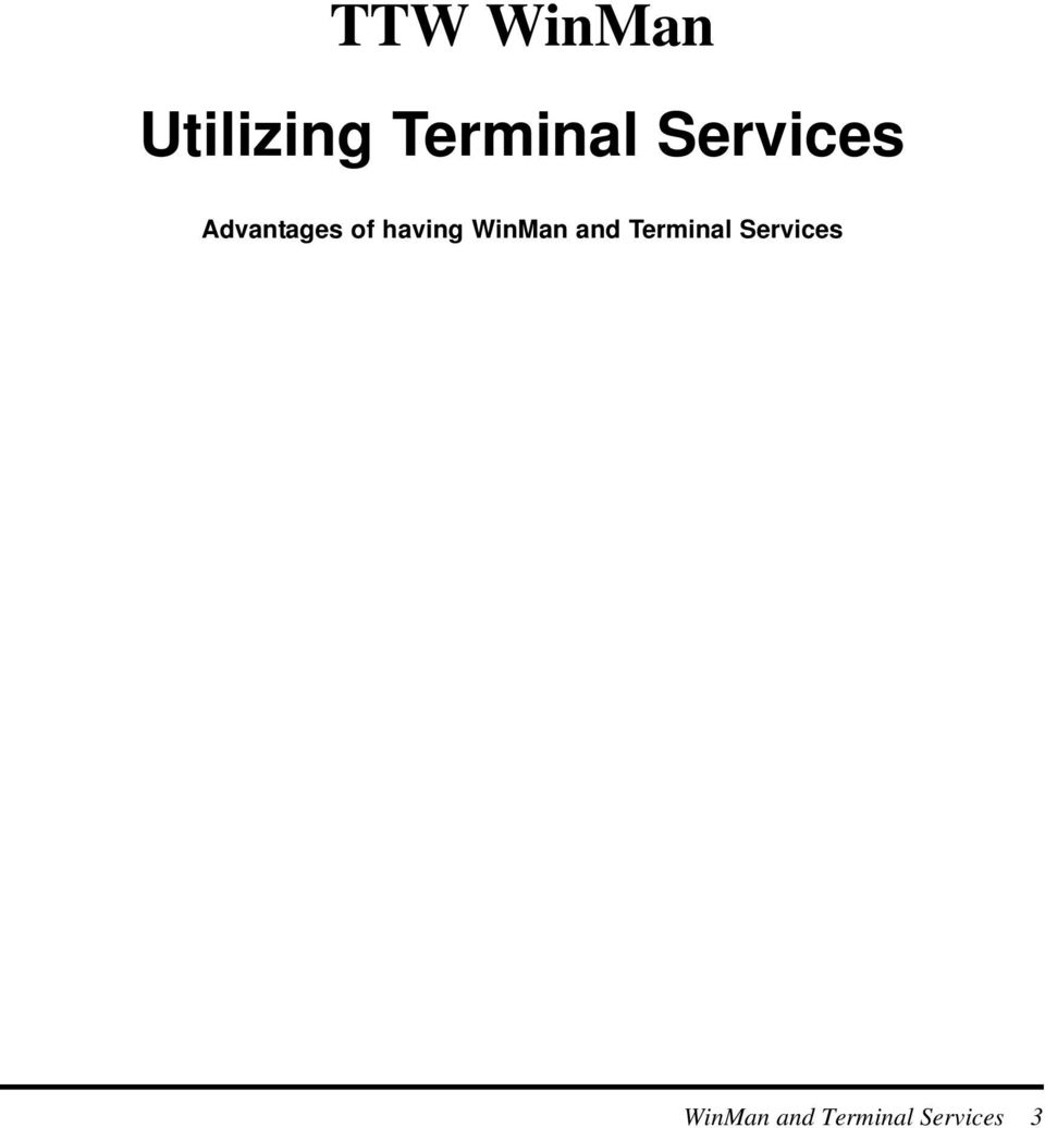 WinMan and Terminal Services