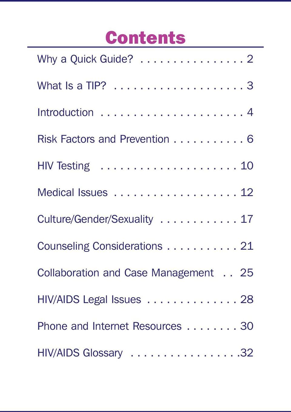 .................. 12 Culture/Gender/Sexuality............ 17 Counseling Considerations.