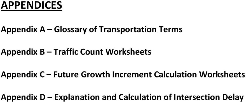 Future Growth Increment Calculation Worksheets