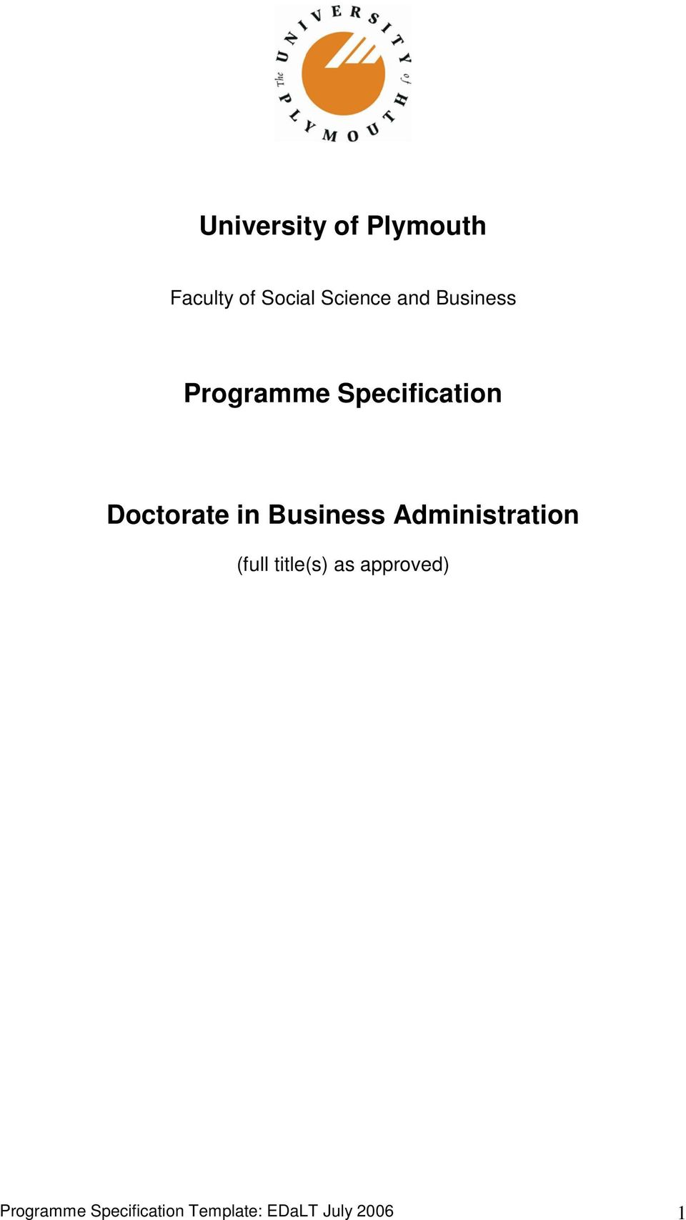 Business Administration (full title(s) as