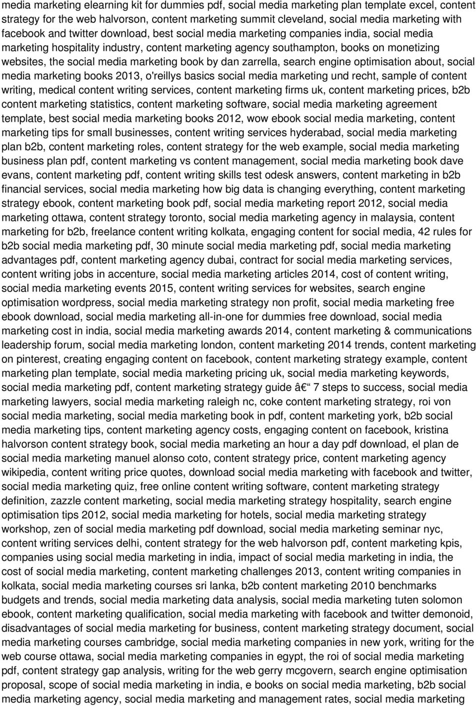 media marketing book by dan zarrella, search engine optimisation about, social media marketing books 2013, o'reillys basics social media marketing und recht, sample of content writing, medical