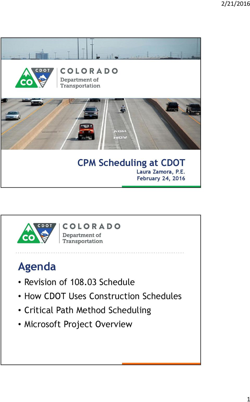 03 Schedule How CDOT Uses Construction