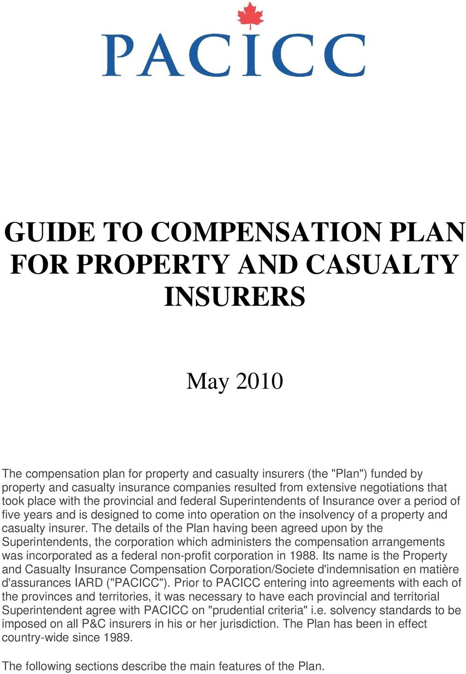 of a property and casualty insurer.