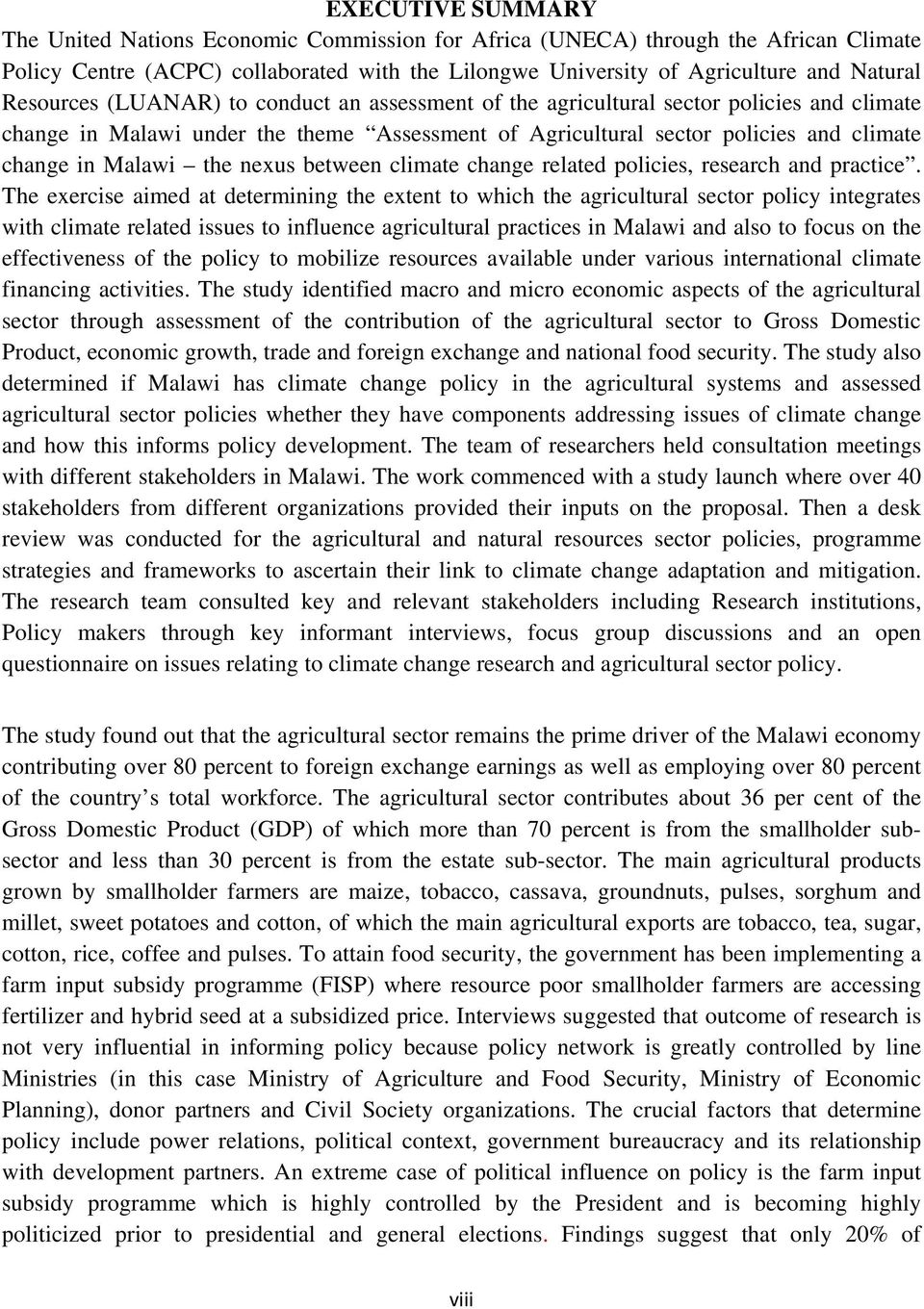the nexus between climate change related policies, research and practice.