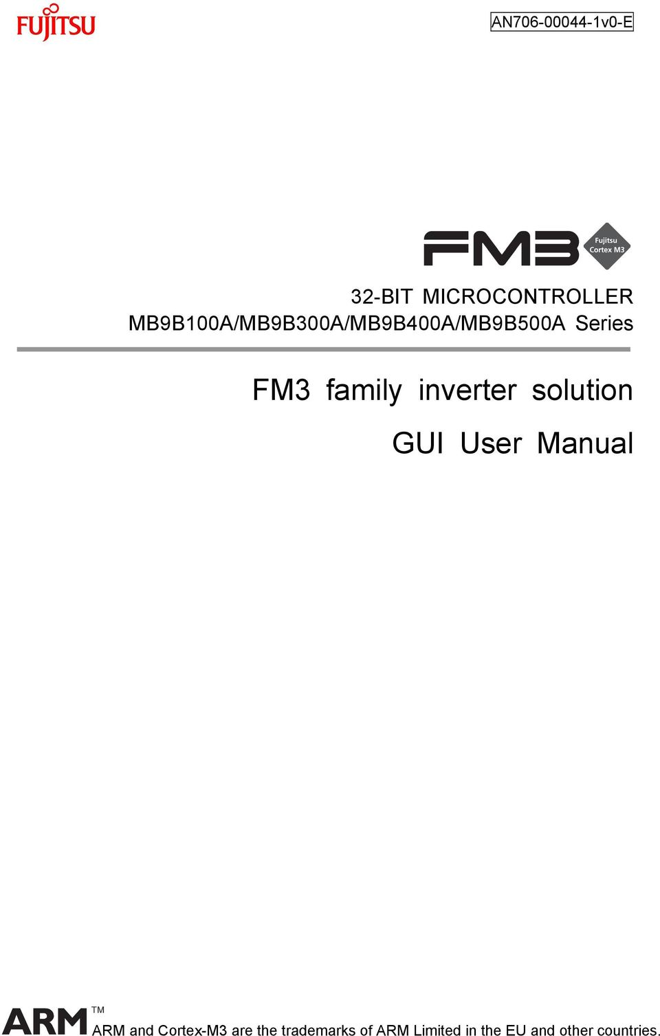 family inverter solution GUI User Manual TM ARM