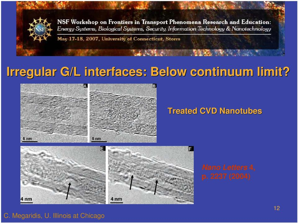 Treated CVD Nanotubes