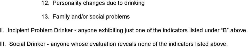 Incipient Problem Drinker - anyone exhibiting just one of the