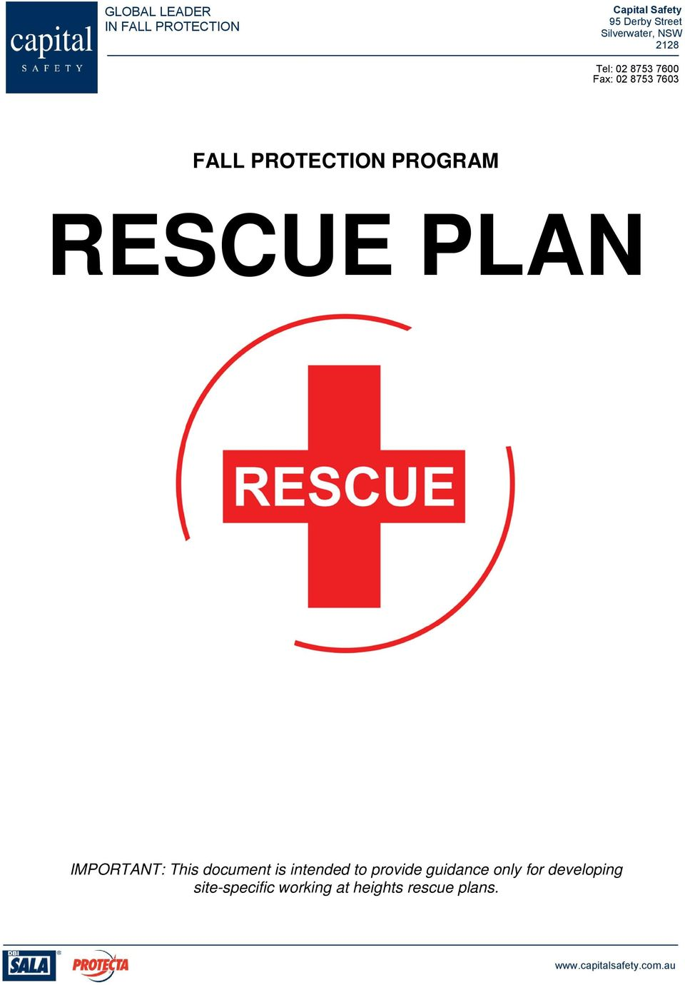 PLAN IMPORTANT: This document is intended to provide guidance only for