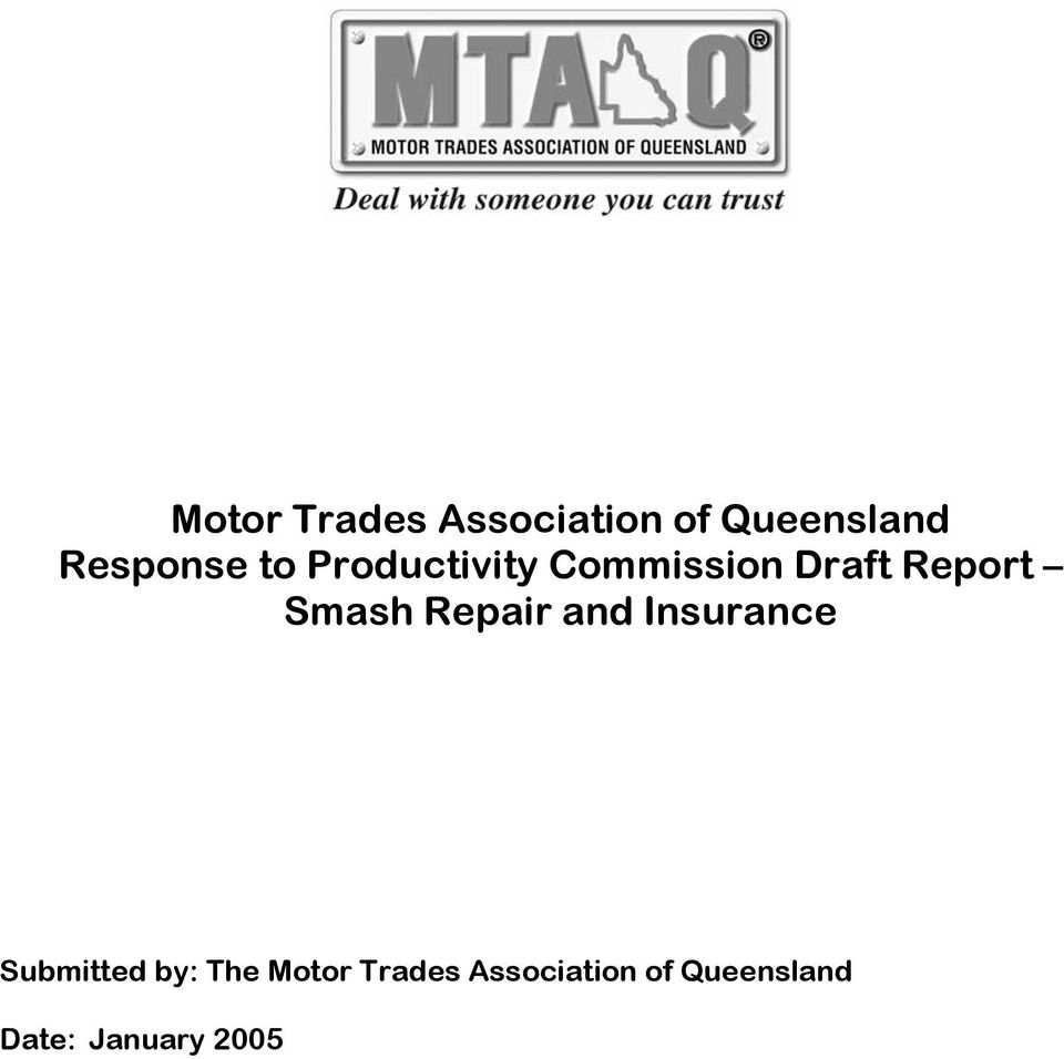 Repair and Insurance Submitted by: The Motor