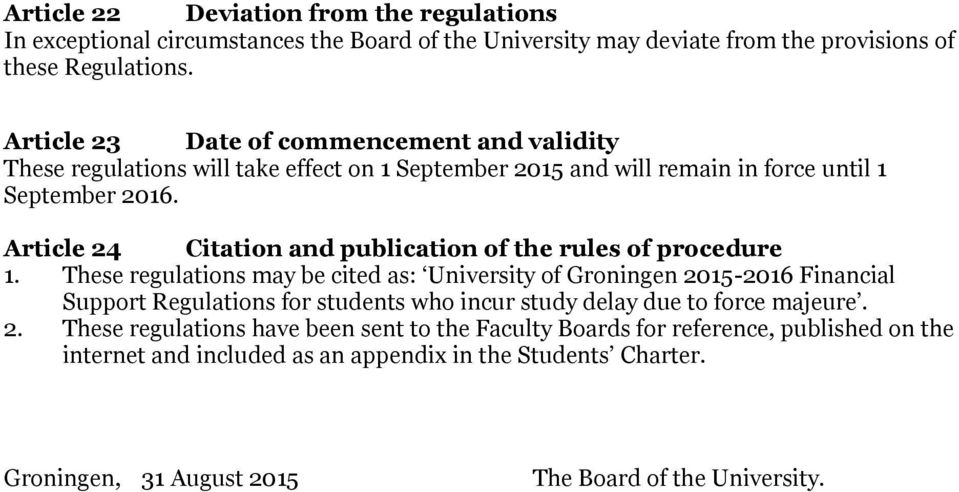 Article 24 Citation and publication of the rules of procedure 1.