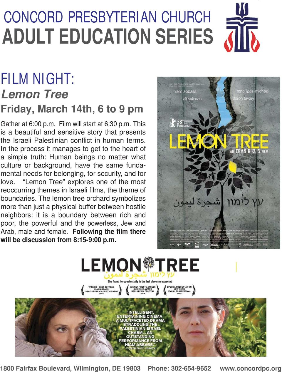 love. Lemon Tree explores one of the most reoccurring themes in Israeli films, the theme of boundaries.