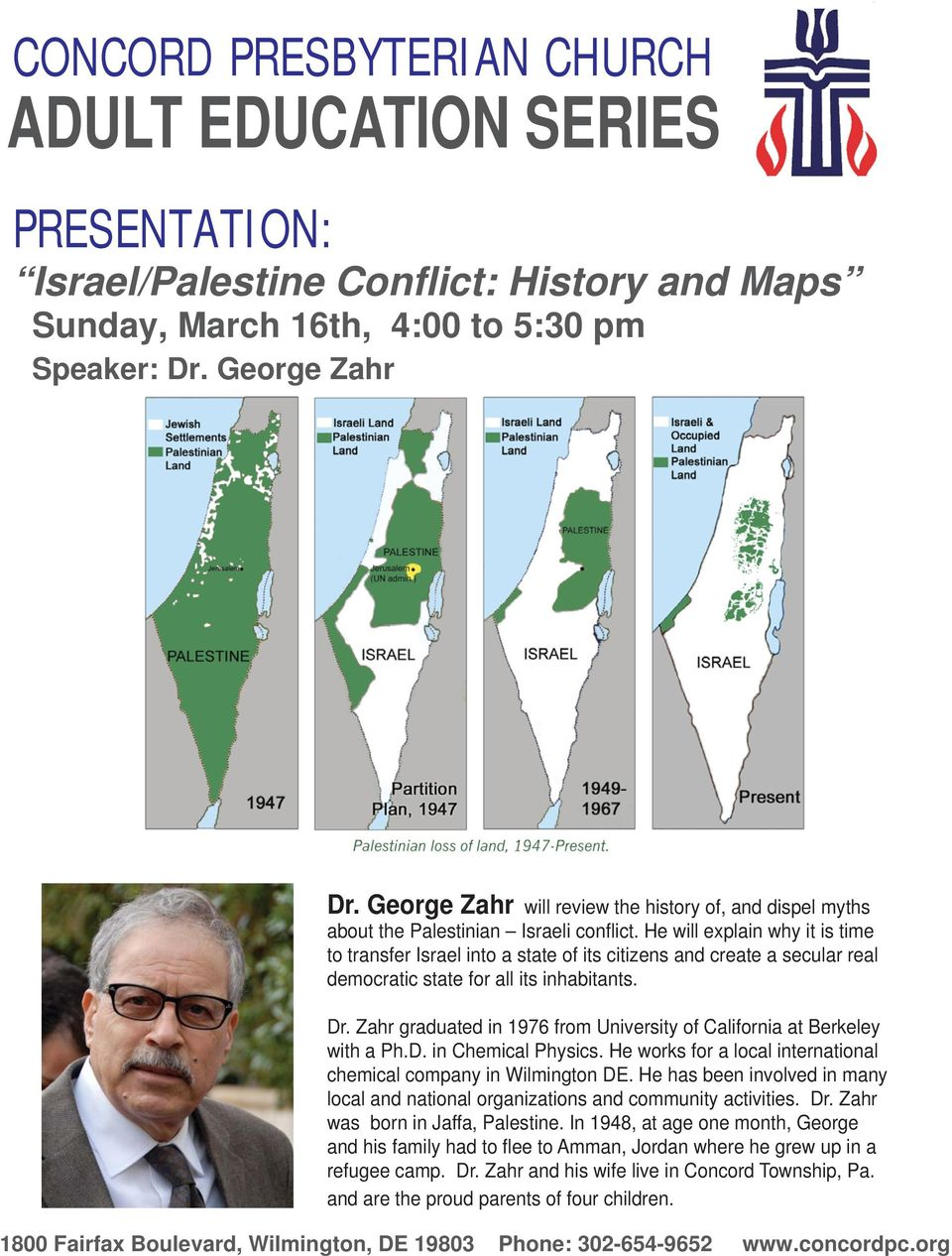 He will explain why it is time to transfer Israel into a state of its citizens and create a secular real democratic state for all its inhabitants. Dr.