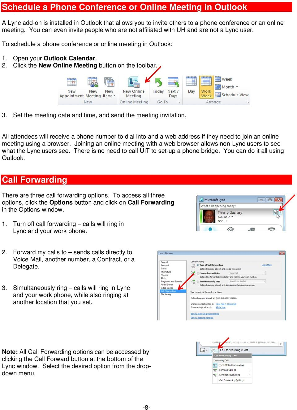 Click the New Online Meeting button on the toolbar. 3. Set the meeting date and time, and send the meeting invitation.