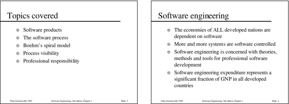 theories, methods and tools for professional software development Software engineering expenditure represents a significant fraction of GNP in all