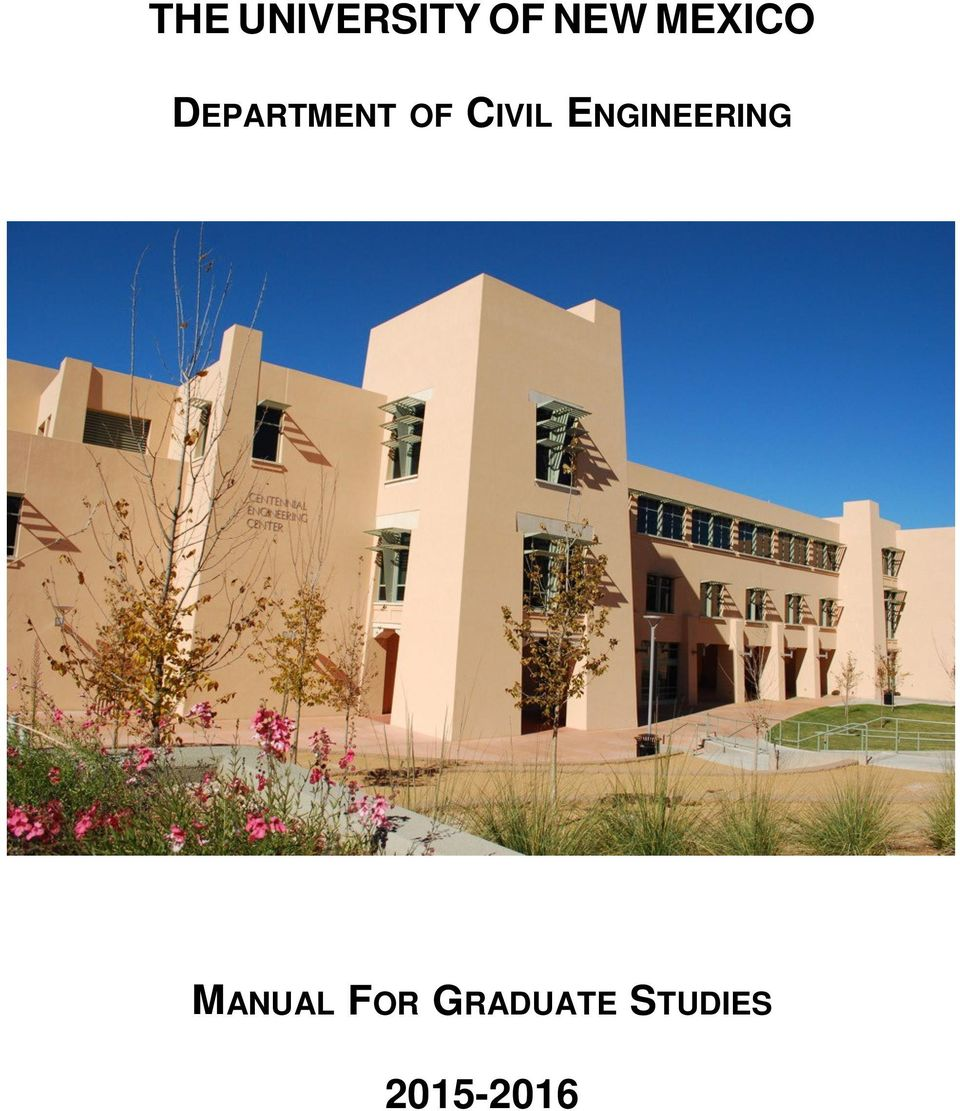 CIVIL ENGINEERING MANUAL