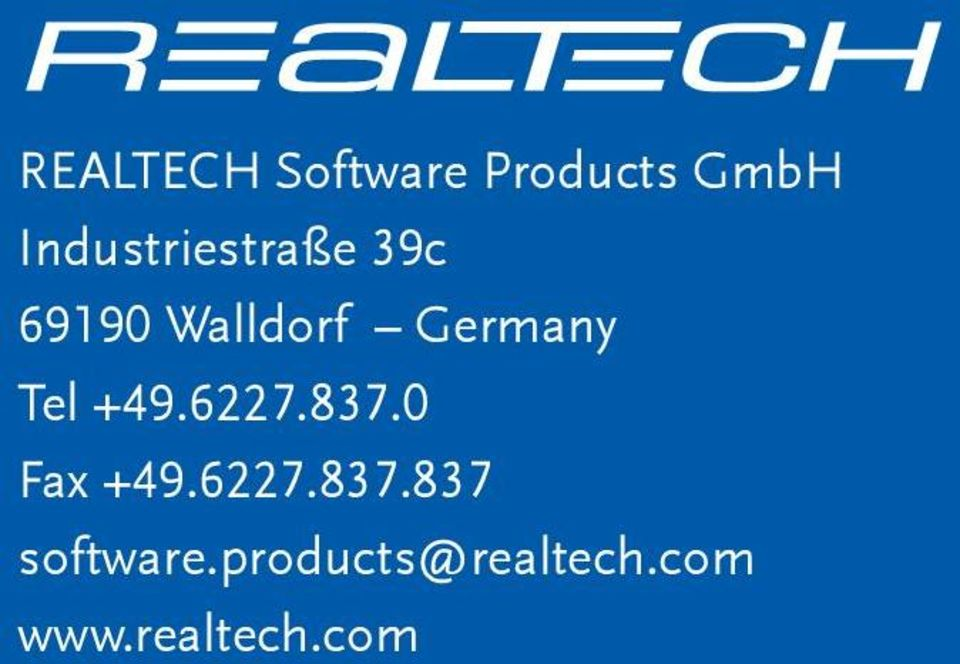 Germany Tel +49.6227.837.0 Fax +49.6227.837.837 software.