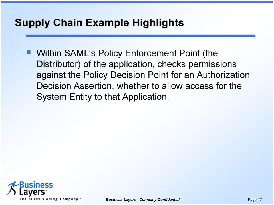 application, checks permissions against the Policy Decision Point for