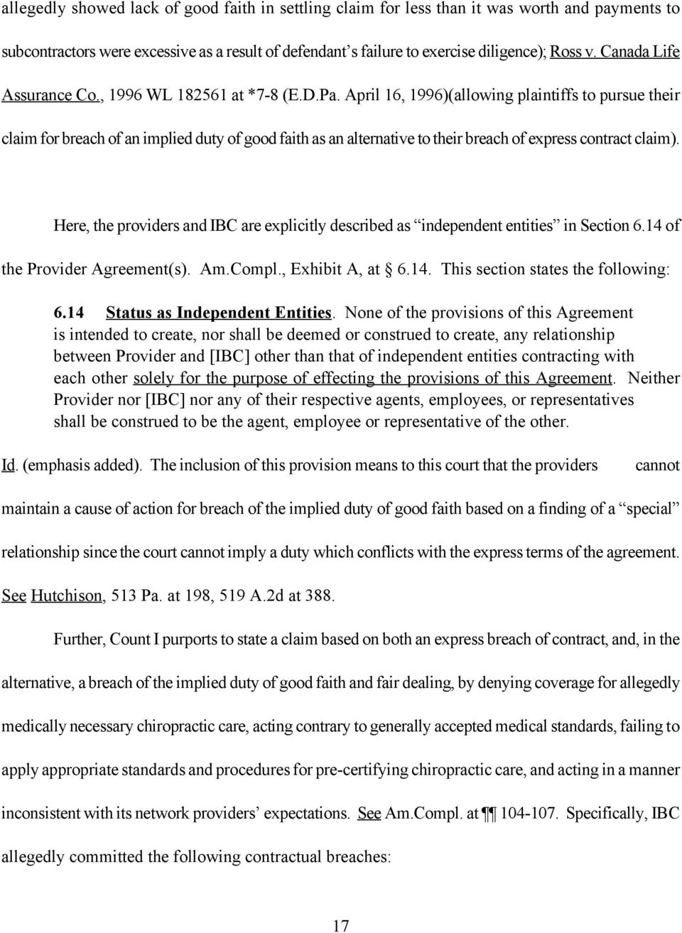 ORDER Objections To Plaintiffs First Amended Plaint