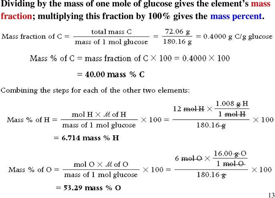 mass fraction; multiplying this