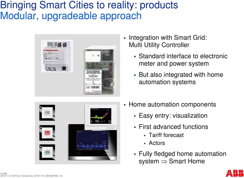 automation systems Home automation components Easy entry: visualization First advanced functions Tariff