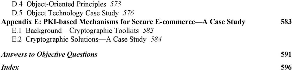 for Secure E-commerce A Case Study 583 E.