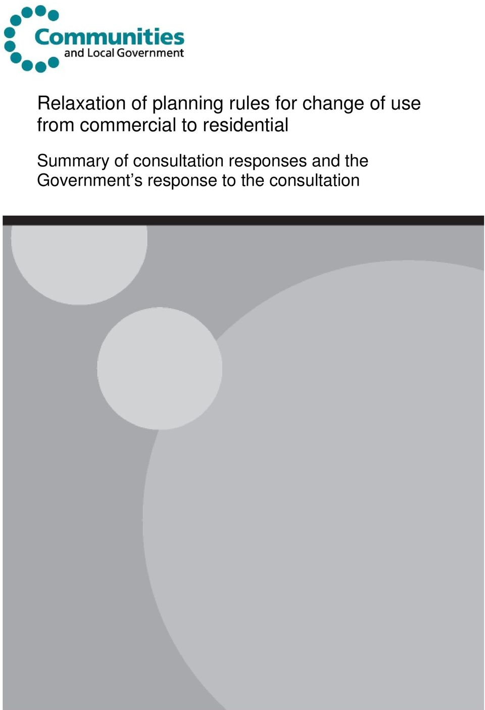 Summary of consultation responses and