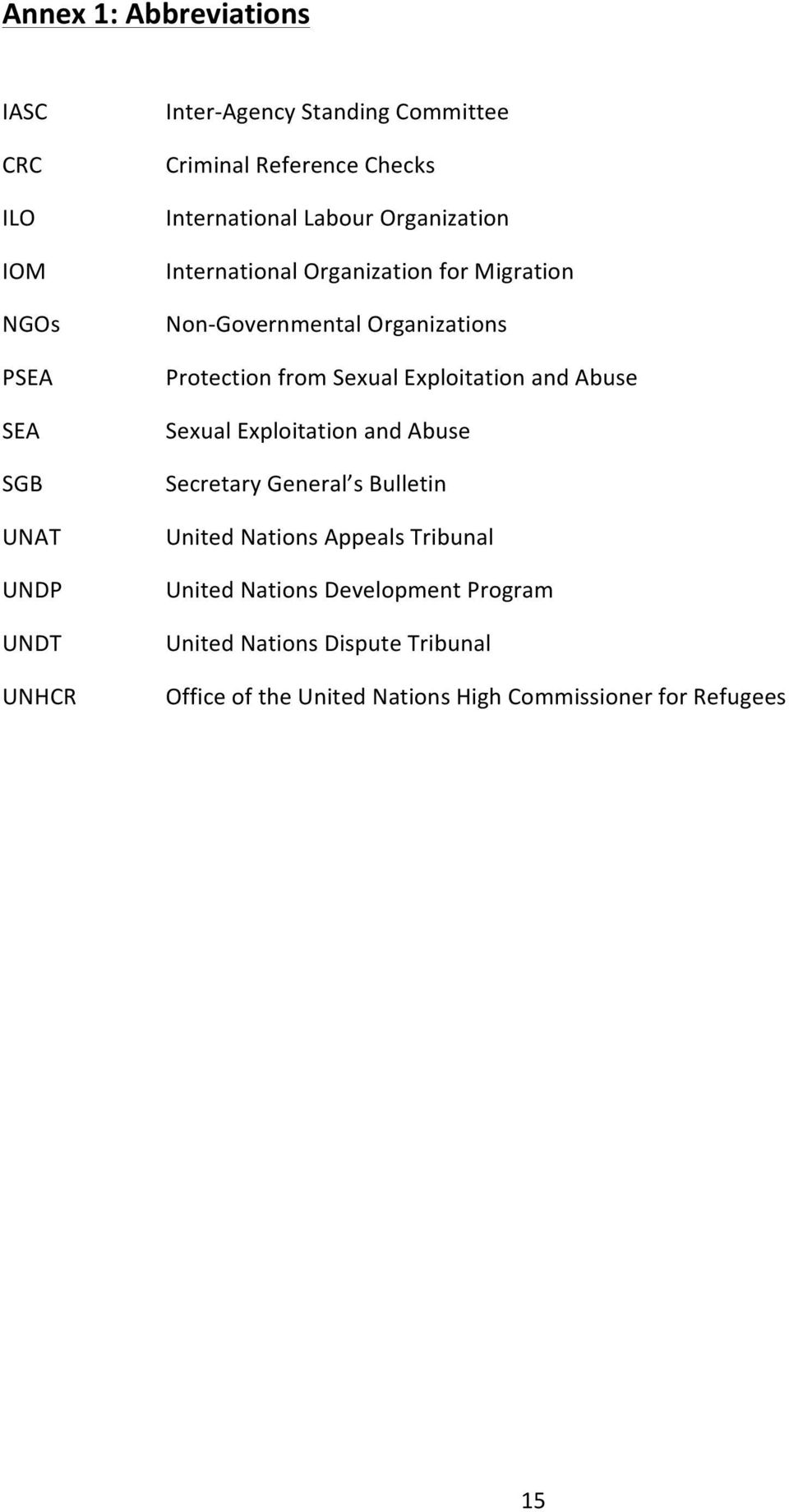 Protection from Sexual Exploitation and Abuse Sexual Exploitation and Abuse Secretary General s Bulletin United Nations Appeals