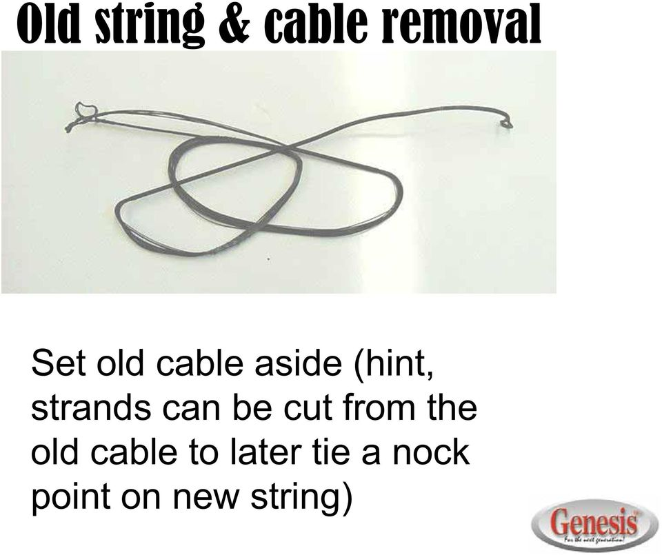 can be cut from the old cable to