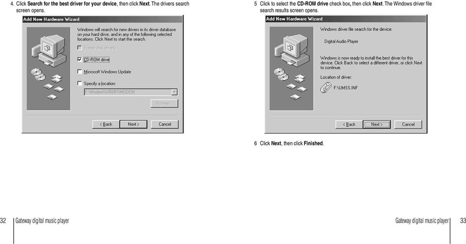 5 Click to select the CD-ROM drive check box, then click Next.