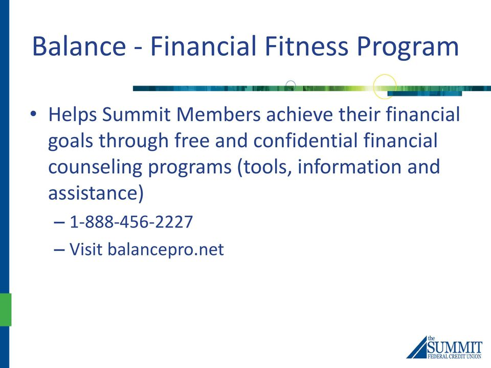 confidential financial counseling programs (tools,