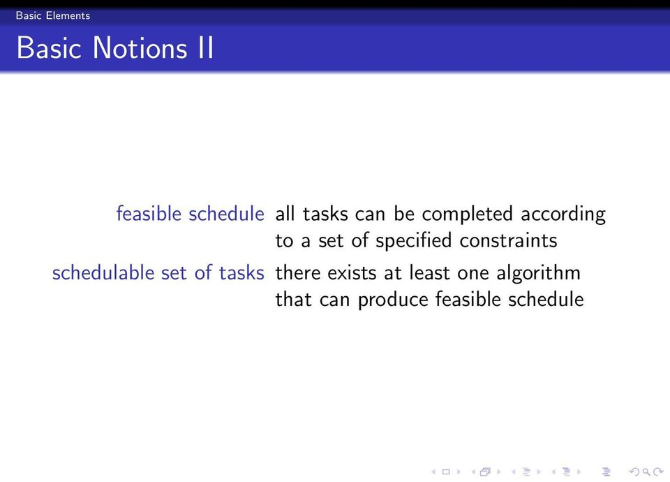 specified constraints schedulable set of tasks there