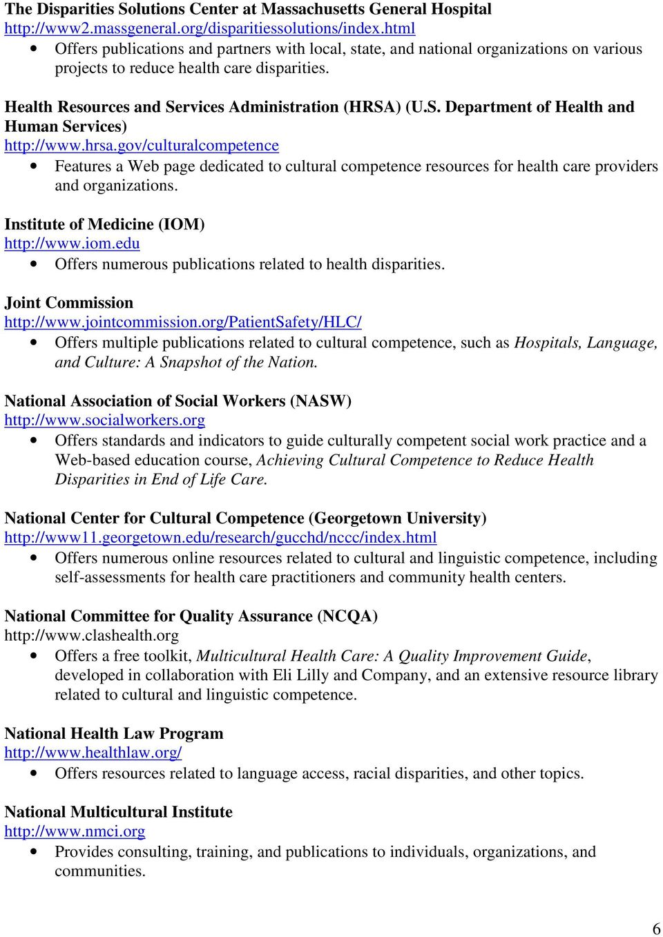 rvices Administration (HRSA) (U.S. Department of Health and Human Services) http://www.hrsa.