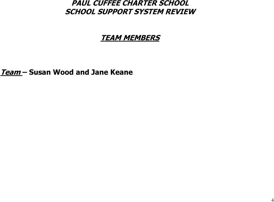 SYSTEM REVIEW TEAM