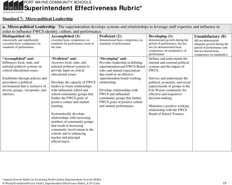 standards for most of Influences local, state, and national political systems on critical educational issues.