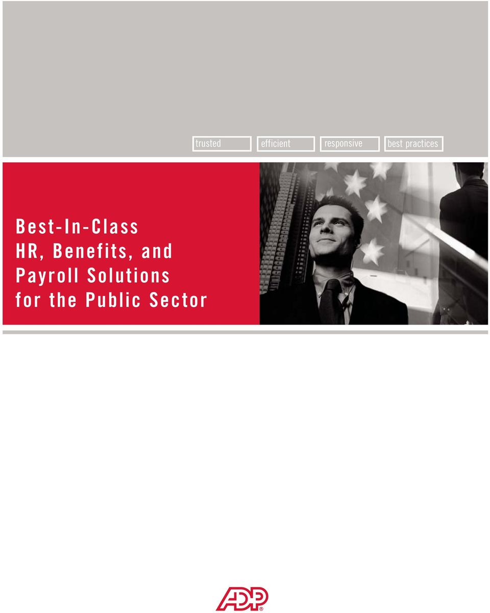 the Public Sector trusted
