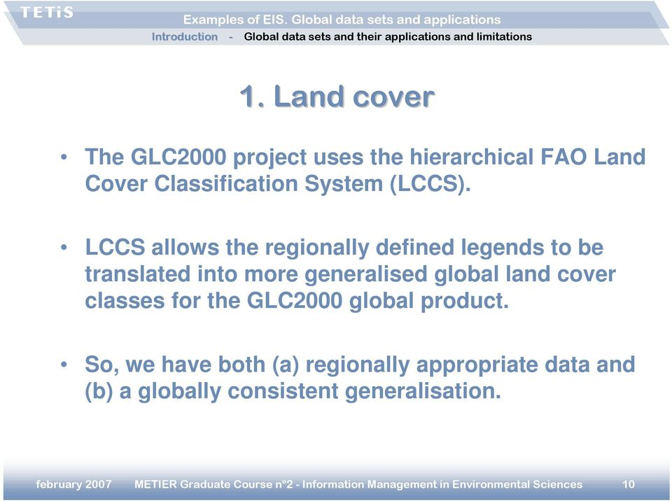 for the GLC2000 global product.
