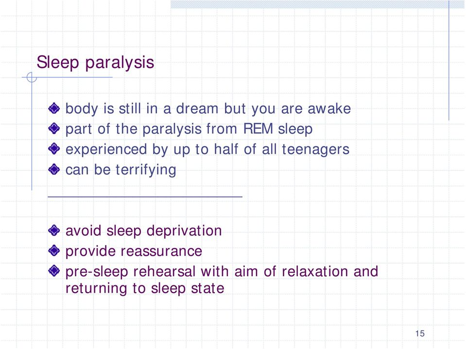 teenagers can be terrifying avoid sleep deprivation provide